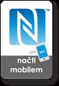 Obrázek Obdélnikový NFC štítek se znakem N-Mark, 35x50mm