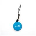 Obrázok pre výrobcu Epoxy keyfob with NFC logo Round shape Blue