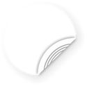 Picture of White NFC Sticker, 29mm, NTAG203